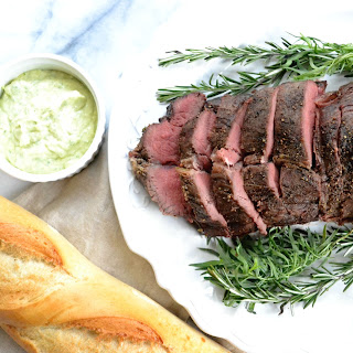 Herb-Roasted Filet of Beef with Basil Aioli