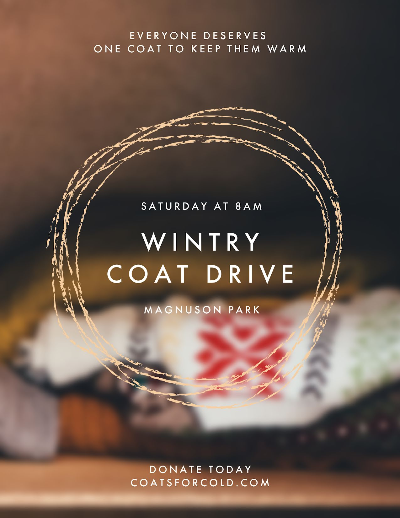 Wintry Coat Drive - Flyer Template