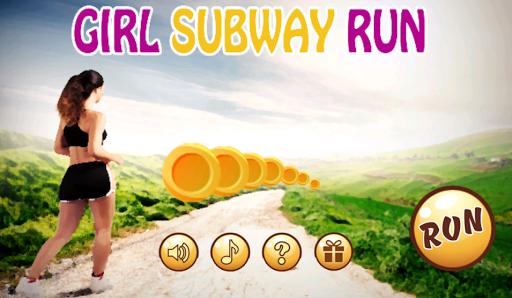 Girl Subway Run