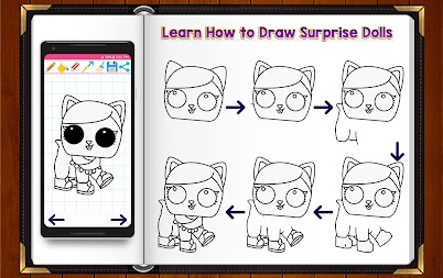 Learn How to Draw Cute Surprise Dolls APK screenshot thumbnail 6