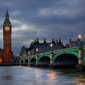 Big Ben by Grzegorz Gluchy - Buildings & Architecture Bridges & Suspended Structures ( london, night, city )