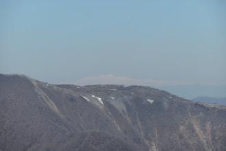 藤原岳の奥に白山