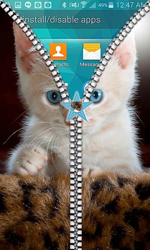 Kitty Cat Zipper lock Screen