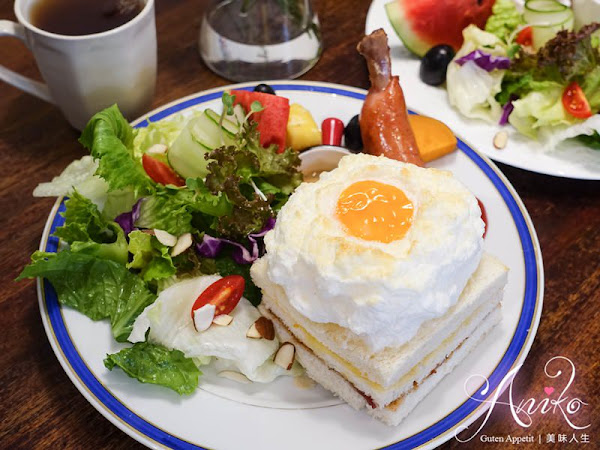 謝謝 DOUMO。永和巷弄人氣早午餐~超療癒!吐司上有雲朵蛋