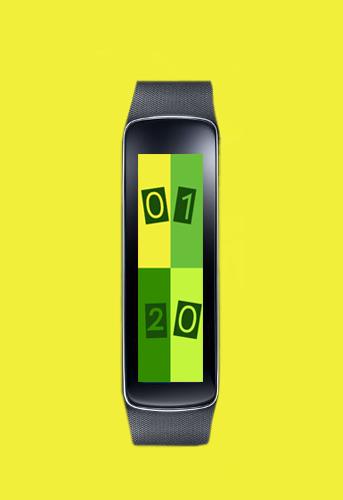 Gear Fit Outset Color Clock