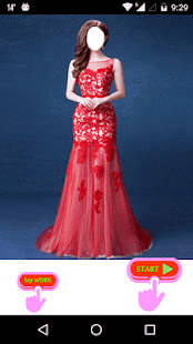 Red Prom Women Dress - náhled