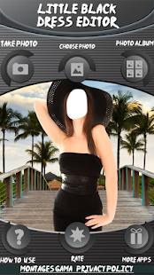 Malý černý šaty editor - náhled
