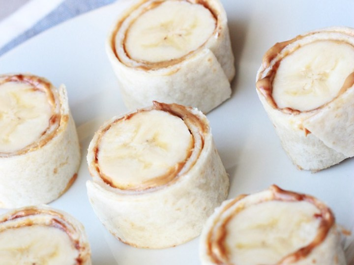 Banana peanut butter sushi recipe