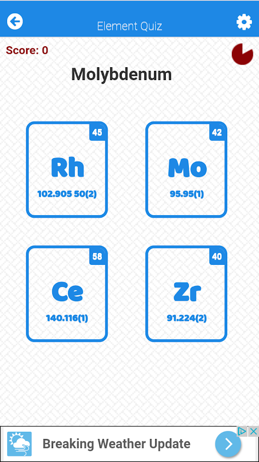 Periodic table element quiz android apps on google play periodic table element quiz screenshot urtaz Image collections