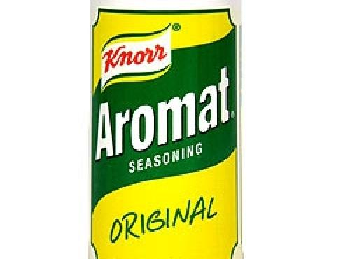 The seasoning Aromat is slightly sourish and very salty. The dish needs very much...