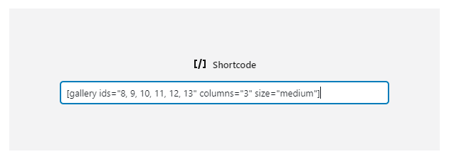 Contoh blok shortcode WordPress