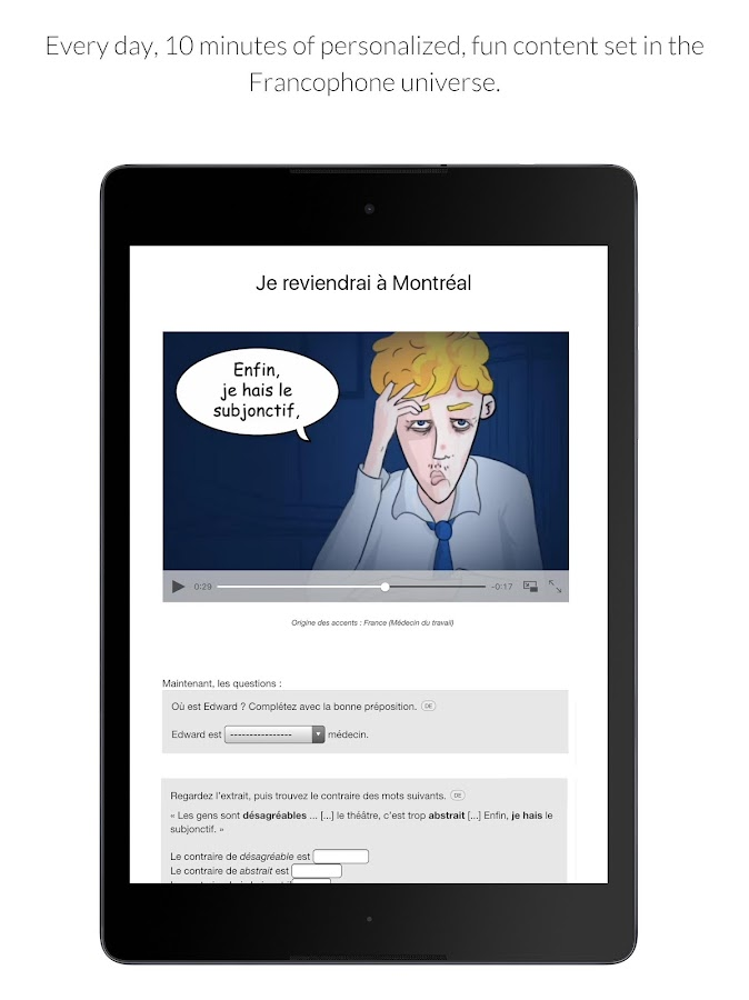 Learn French with Le Monde- screenshot