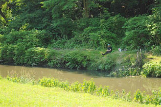 Photo: woda jaka jest każdy widzi, ale ryby muszą być skoro pojawiają się tu wędkarze
