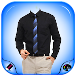 Men Shirt With Tie Photo Maker