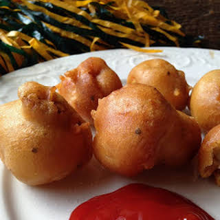 Beer Battered Deep Fried Mushrooms.