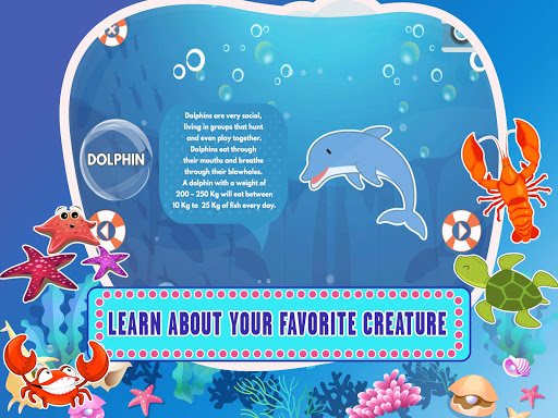Learn Sea World Animal Game-Name Puzzle Colouring 1.6 screenshots 2
