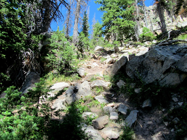 Steep climb up to Big Elk Lake
