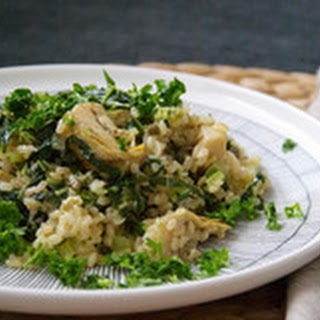"Artichoke and Caper ""Risotto""."