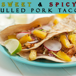 Sweet & Spicy Pulled Pork Tacos with Grilled Pineapple Salsa.