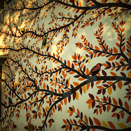 Wall art by Manasvini Munjal - Abstract Light Painting ( wall art, graffiti, art, wall )