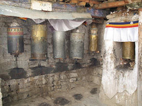 Photo: old prayer wheels
