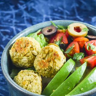 Easy Baked Falafel Salad Bowl
