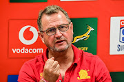 Swys de Bruin (coach) of the Lions during the Super Rugby match between Emirates Lions and Jaguares at Emirates Airline Park on March 09, 2019 in Johannesburg, South Africa.