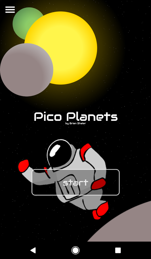 Pico Planets- screenshot