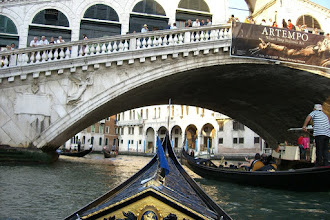 Photo: Our gondola on the grand canal