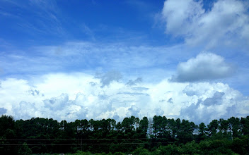 Photo: Clouds rolling in - August 10, 2013 - Taken from Ty Cobb Regional Medical Center