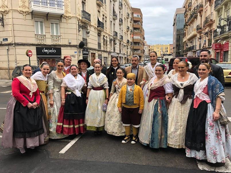 III Dansà en honor a San Vicente Mártir. Falla Plaza de España y Agrupación Falla Centro