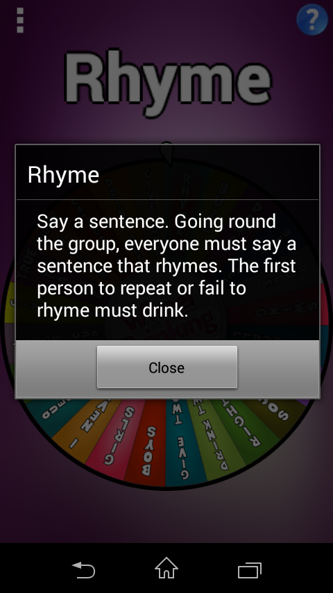 Wheel of Drinking- screenshot