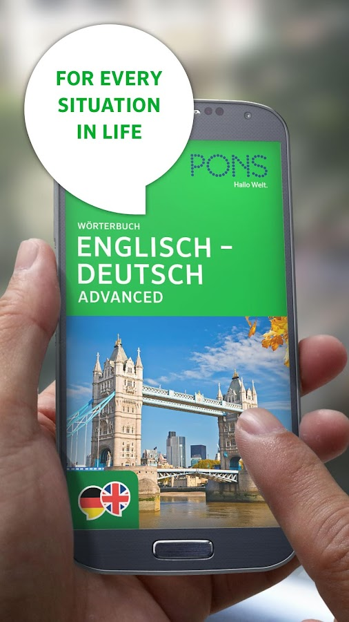 Dictionary German - English ADVANCED by PONS- screenshot