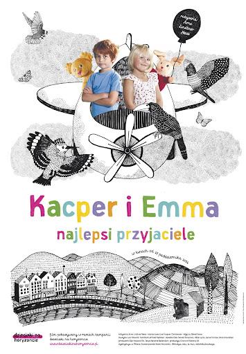 Polski plakat filmu 'Kacper i Emma - Najlepsi Przyjaciele'