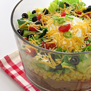 Easy Layered Taco Salad.