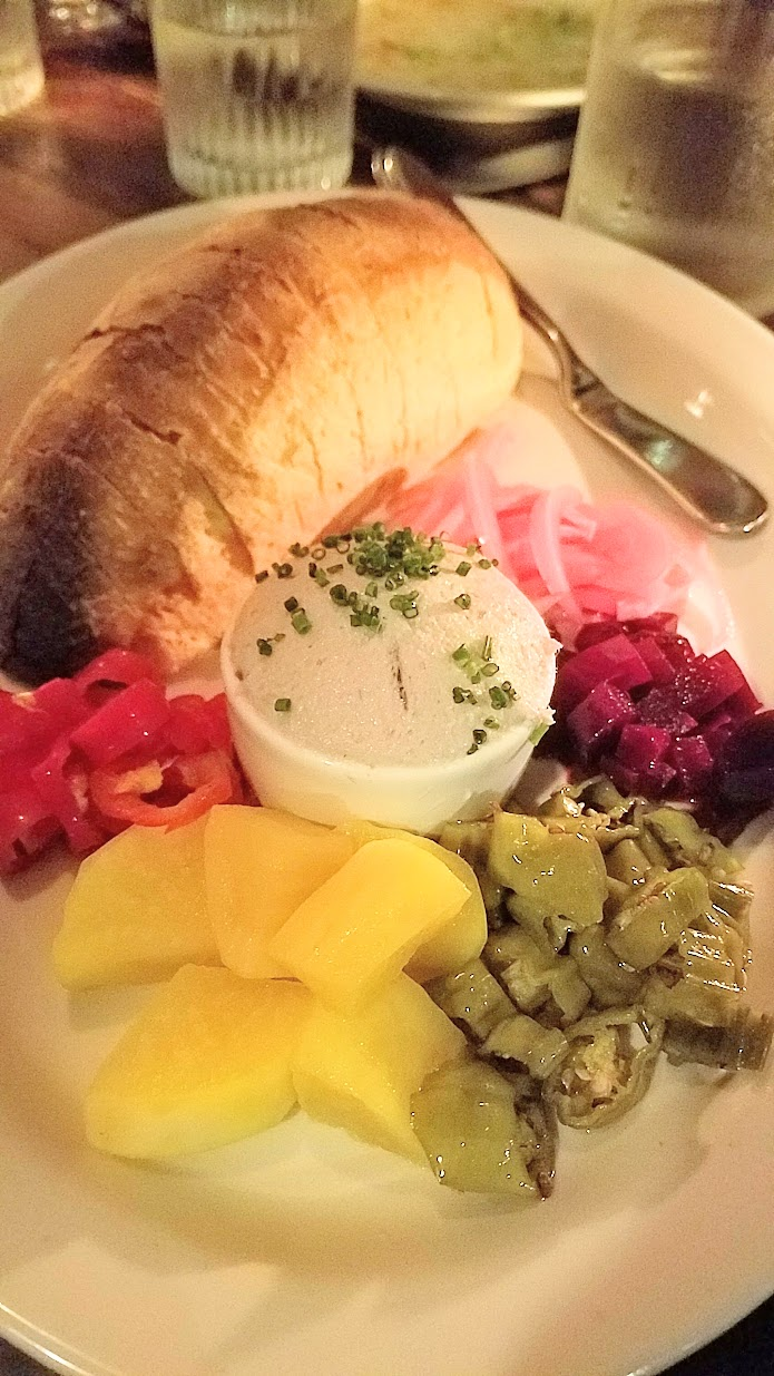 Bluefish Pate with with house pickle and house bread at Radar Restaurant on North Mississippi, Portland