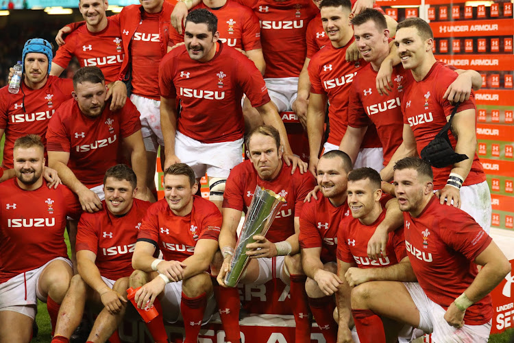 Captain Alun Wyn Jones of Wales and Welsh team celebrate with the trophy during the International Friendly match between Wales and South Africa on November 24, 2018 in Cardiff, United Kingdom.