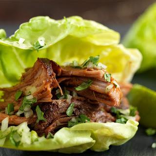 Pork Mole Lettuce Wraps.