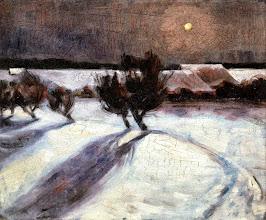 """Photo: Max Beckmann, """"Paesaggio innevato al chiaro di luna"""" (1902)"""