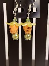 Photo: Day of the Deal Skull Earrings by NW Artist Blanca Santander http://www.blancasantander.com/