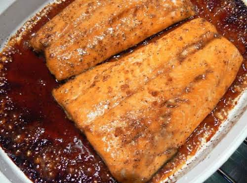 "Maple-Glazed Salmon ""This recipe was delicious! I didn't have enough maple syrup..."