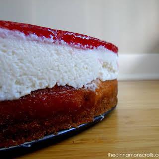 Strawberry & White Chocolate Mousse Cheesecake.