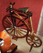 """Photo: A """"Big Wheel Bike"""" from the Chicago Woodturners Club. Winner of the 1998 AAW """"Chapter Collaborative Challenge"""" at the Akron Symposium. See also www.chicagowoodturners.com/challenge_bike.htm"""