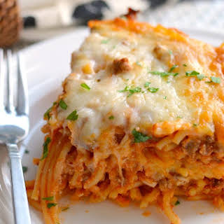 Our Family Favorite - Baked Spaghetti.