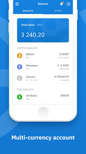 All in one cryptocurrency wallet app