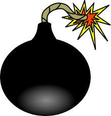 Cartoon of lit bomb
