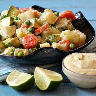 Avocado and Potato Salad, with Tangy Avocado Dressing Recipe