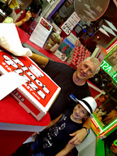 Photo: Chris Walker wit his daughter. Birthday Pizza.