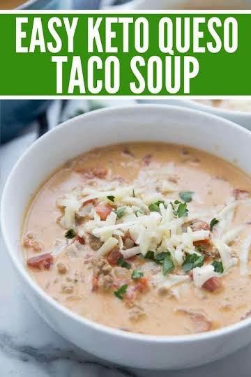 Queso Keto Taco Soup Recipe (Quick & Easy)