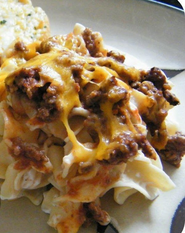 Beefy Sour Cream Noodle Bake Recipe